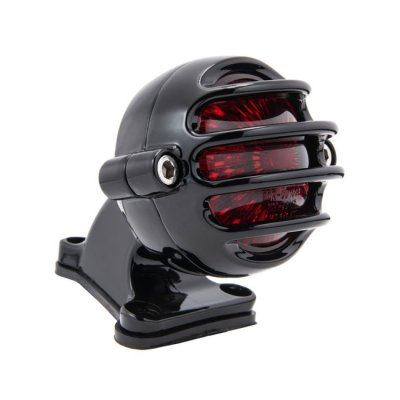 Motone Lecter LED Tail Light - Black - With Fender Mount