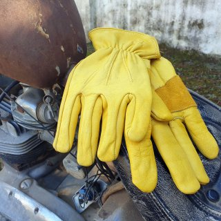 Rider Gloves Cowhide Leather Size M/L
